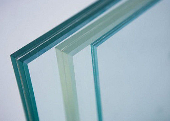 Clear Tempered Laminated Safety Glass 0.38PVB 3mm Cold / Heat Resistance