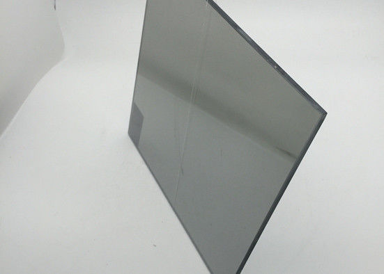 Acid Resistant 4mm Tempered Glass , Black Smoked Glass Size Customized